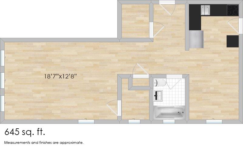 309 N. Oak Park Ave. #2A Studio Apartment