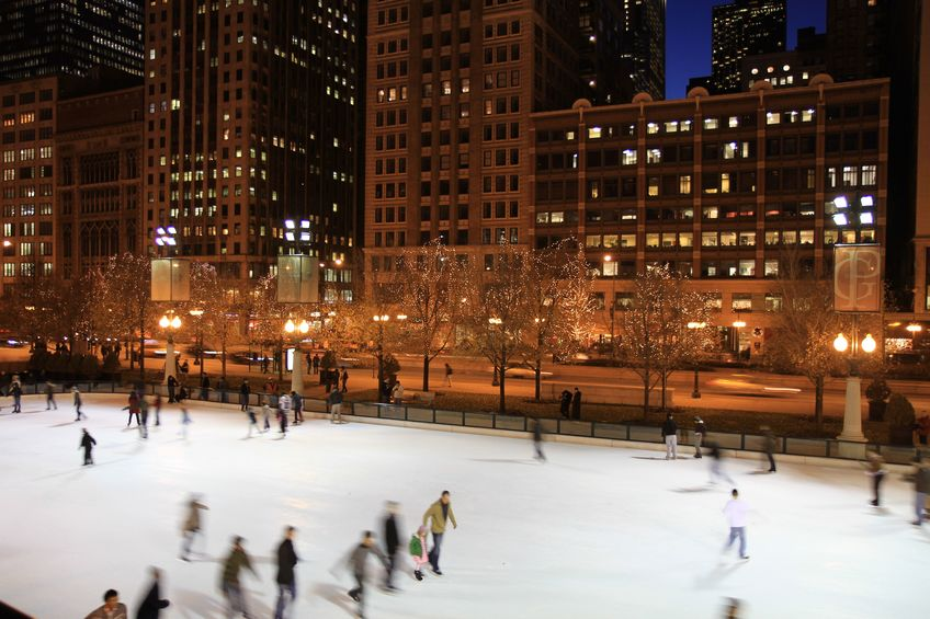 Ice Skating Rink at Millennium Park