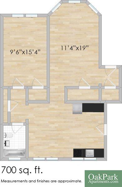 115 South Blvd. #3S One-Bedroom Apartment