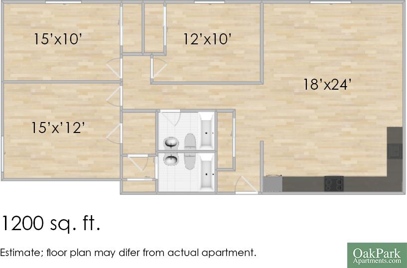 421 S. Elmwood Ave. #22 Three-Bedroom Apartment